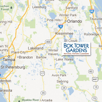 Lake Wells Florida Map.Bok Tower Gardens